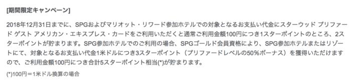 SPGアメックス還元率